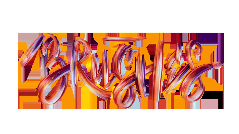 Typographic brush illustration for Photoshop Creative Magazine.