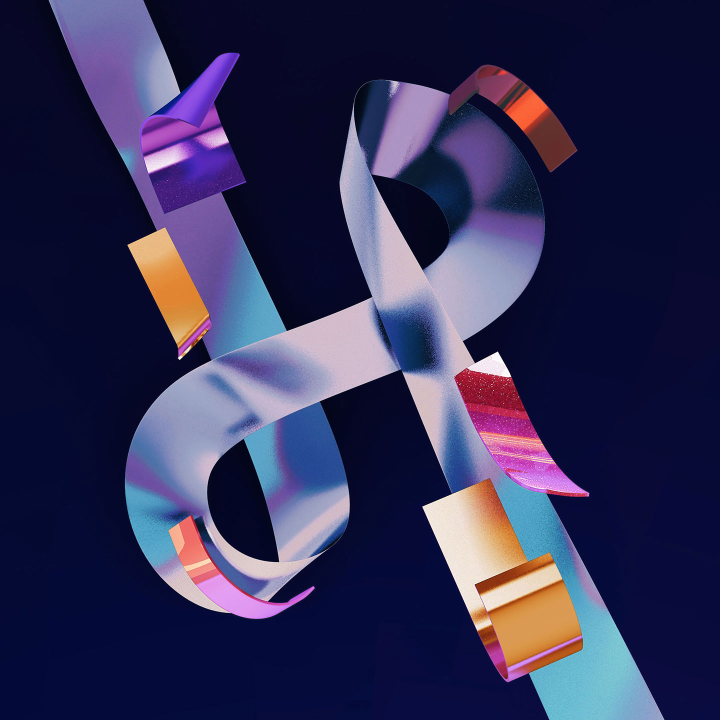36 Days of Type 2016 - 3D typography letter H visual.