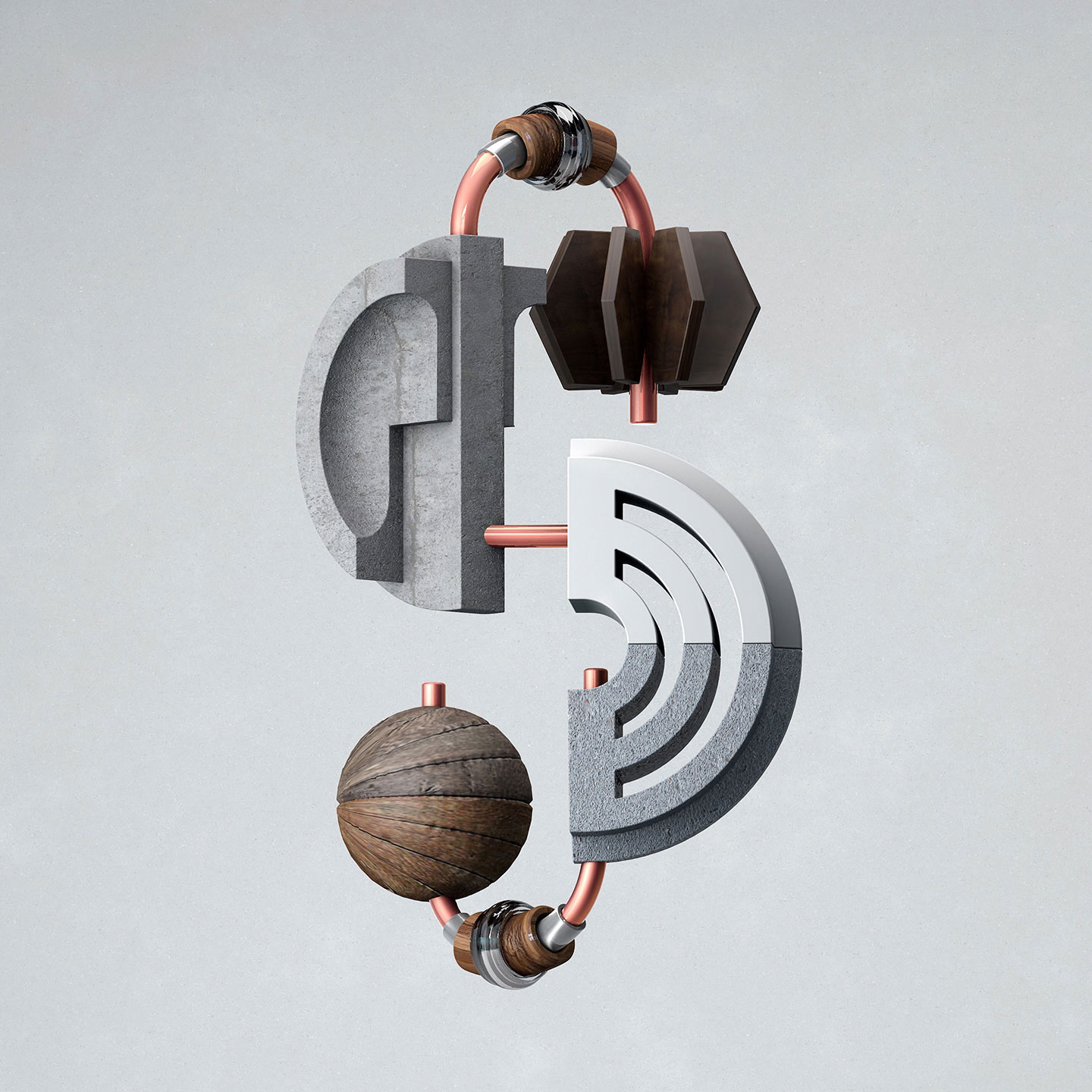 36 Days of Type 2016 - 3D typography letter S visual.