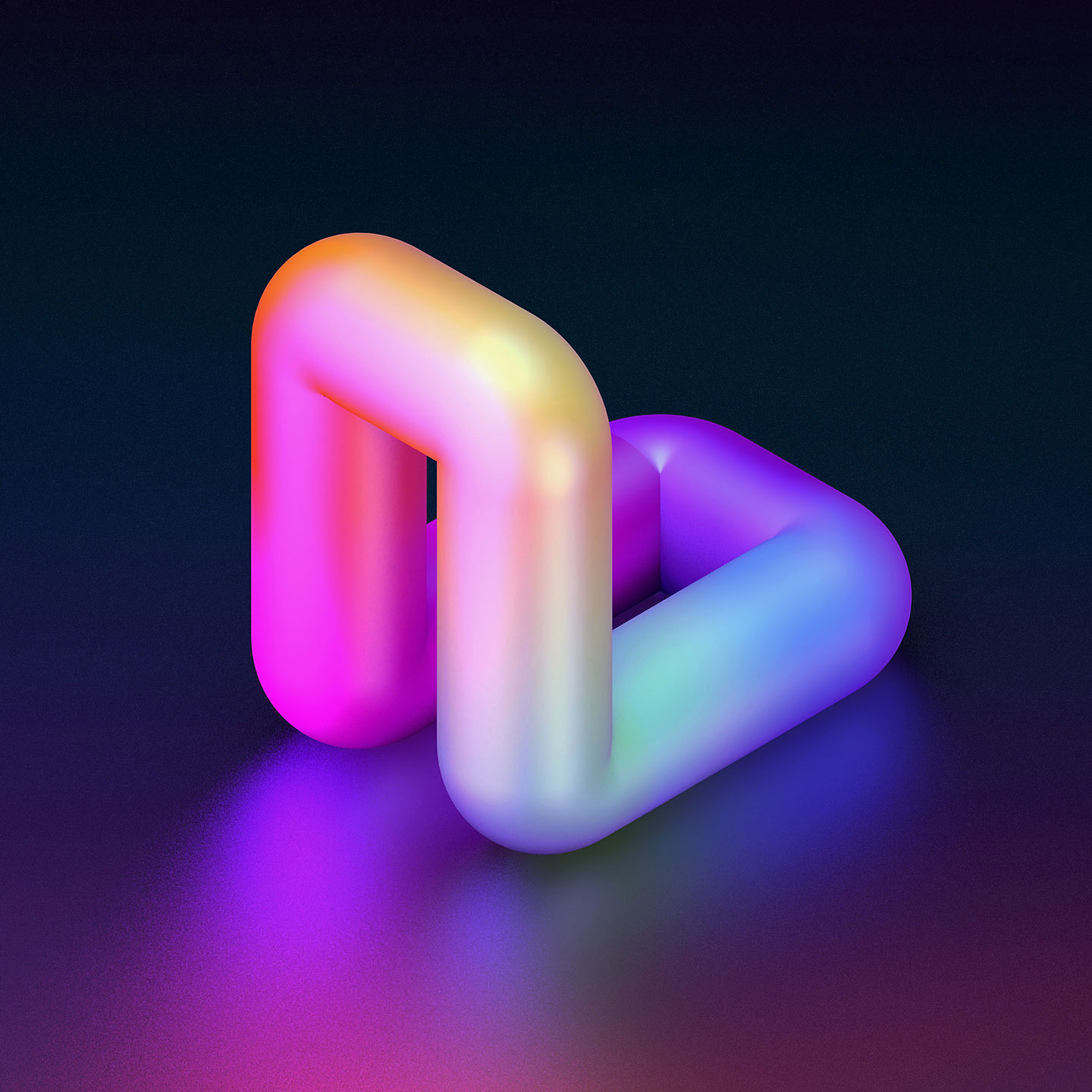 36 Days of Type 2016 - 3D typography letter W visual.