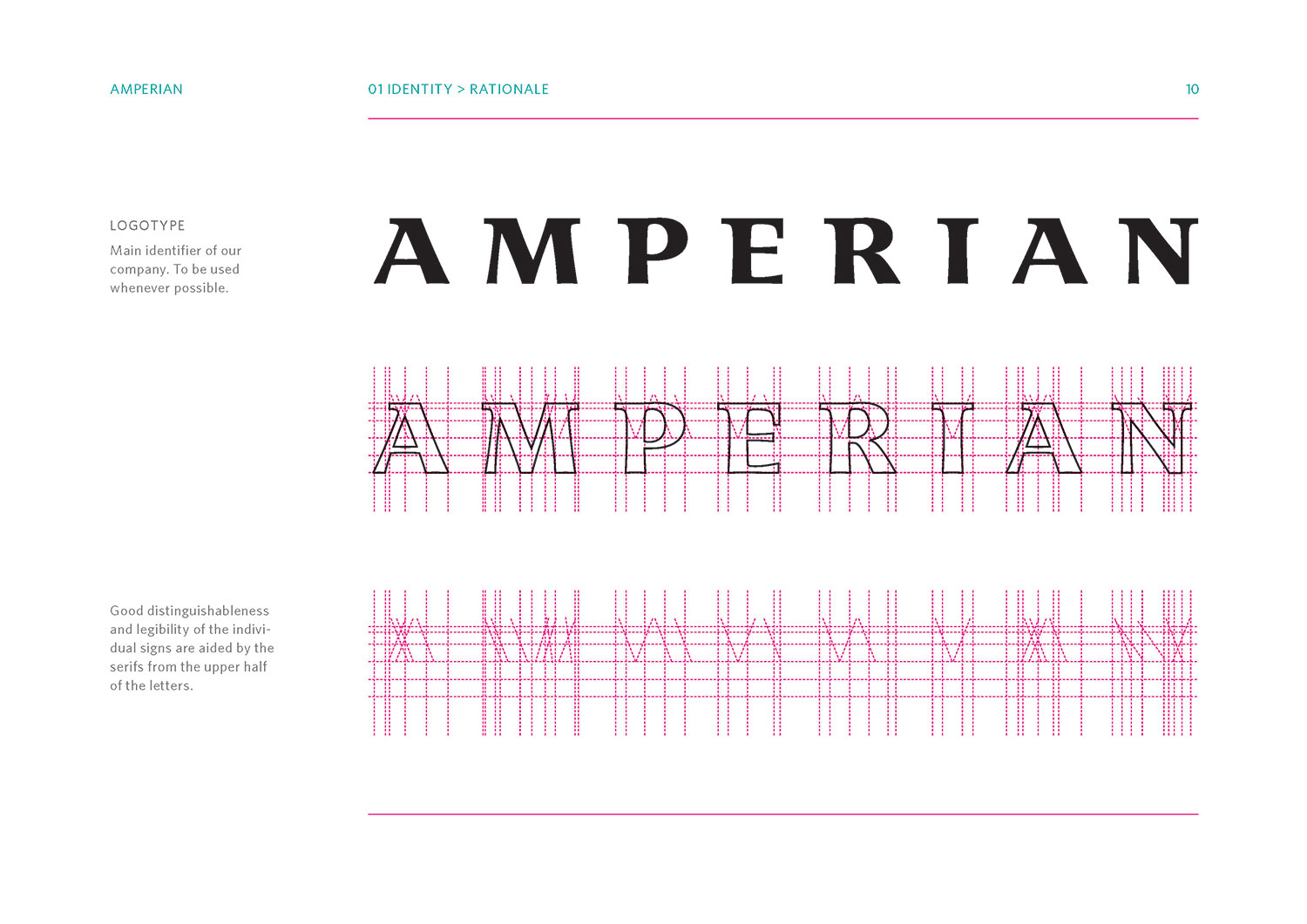 Amperian SG branding corporate identity design guide manual - Logo identity rationale.