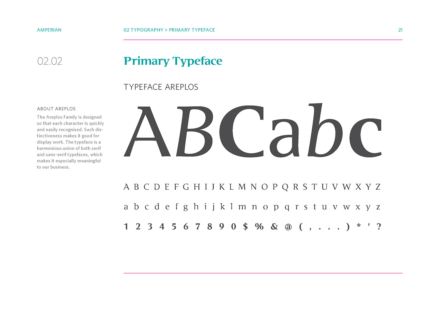 Amperian SG branding corporate identity design guide manual - Primary typeface.