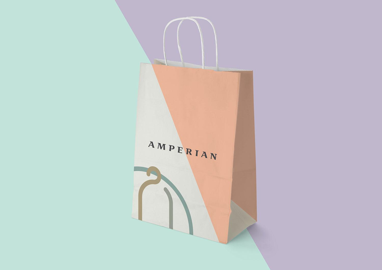 Amperian SG branding corporate identity design - Paper bag.
