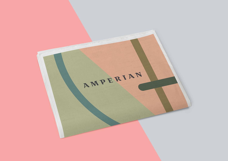 Amperian SG branding corporate identity design - Newsprint.