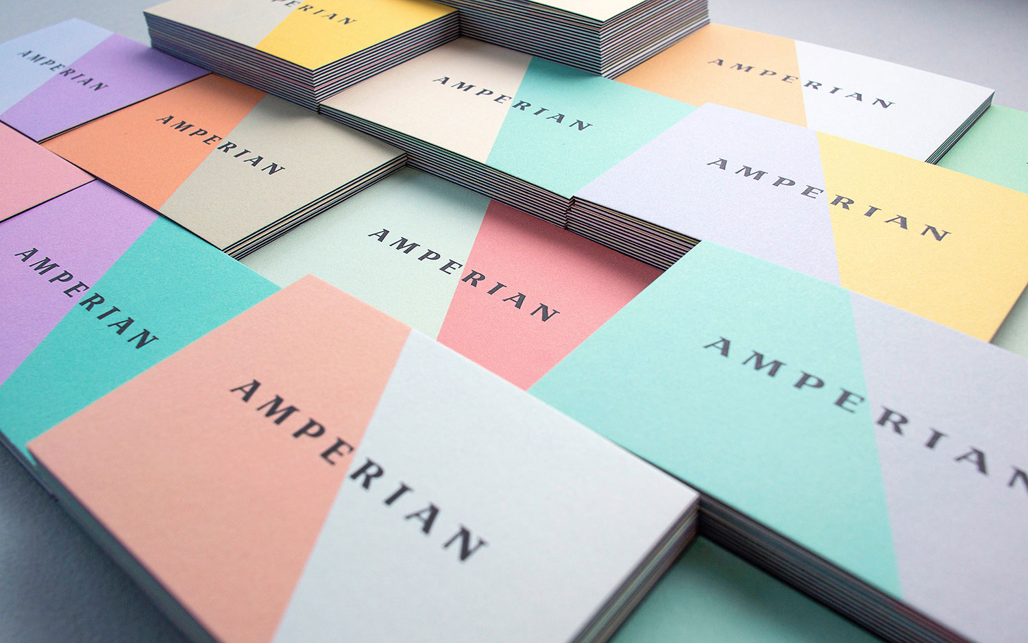 Amperian SG branding corporate identity design - Business cards. Photography by BÜRO UFHO.