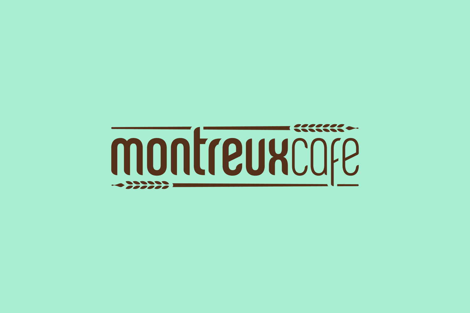 Montreux Café SG branding identity design - Corporate identity word mark design by Singapore based brand strategy and creative design consultancy, BÜRO UFHO.