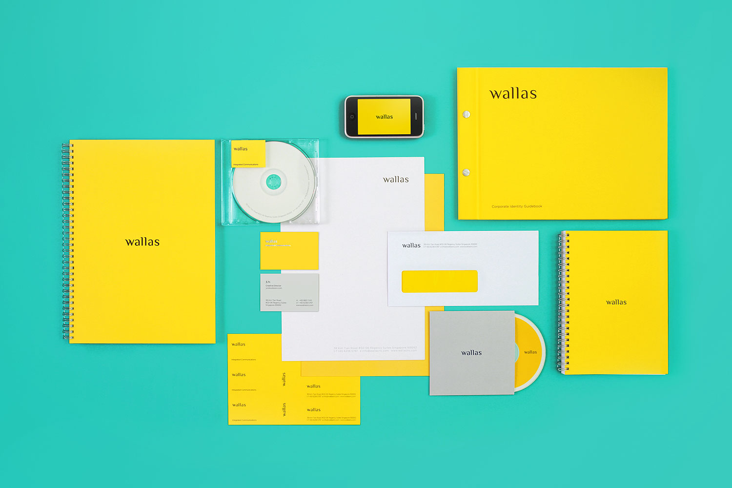 Branding identity design for Wallas Inc, an integrated agency in SG - Identity kit design by Singapore based brand strategy and creative design consultancy, BÜRO UFHO.