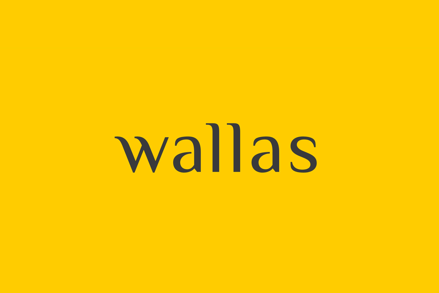 Branding identity design for Wallas Inc, an integrated agency in SG - Identity word mark.