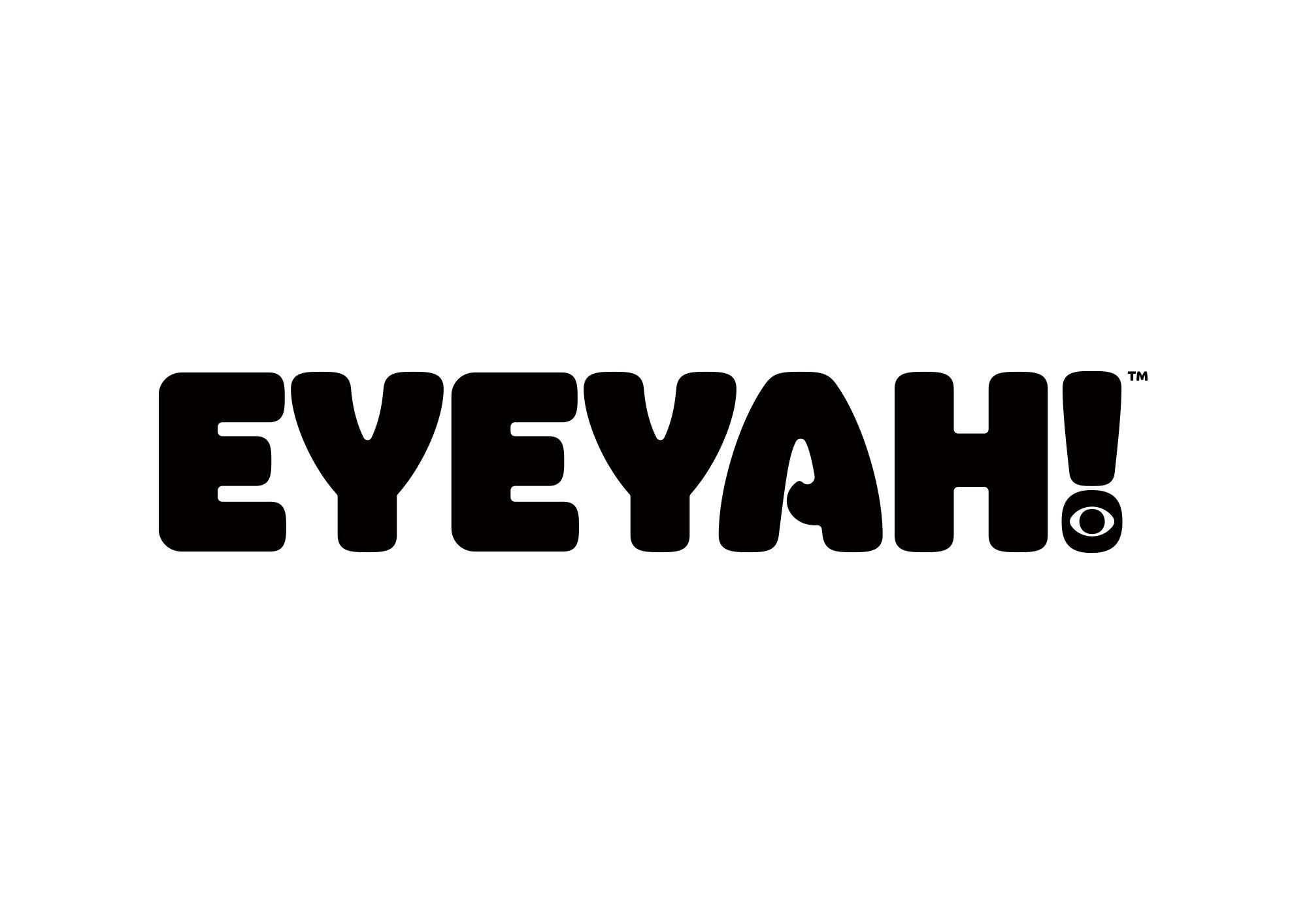 Identity design for Singapore based EYEYAH! magazine logo - Black on White.