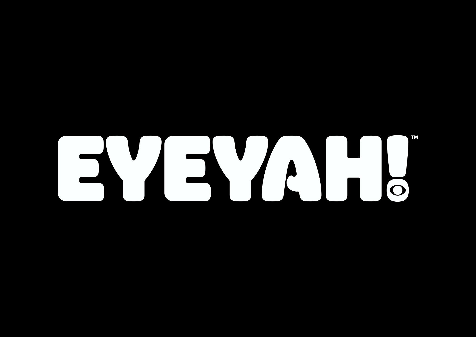 Identity design for Singapore based EYEYAH! magazine logo - White on Black.