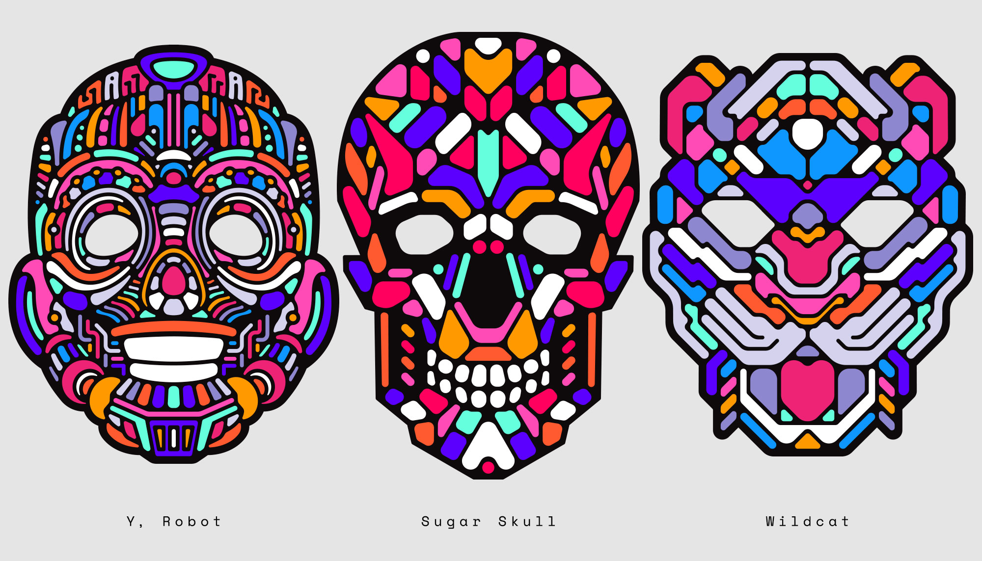Kickstarter LED light up graphic mask designs by Singapore based brand strategy and creative design consultancy, BÜRO UFHO.