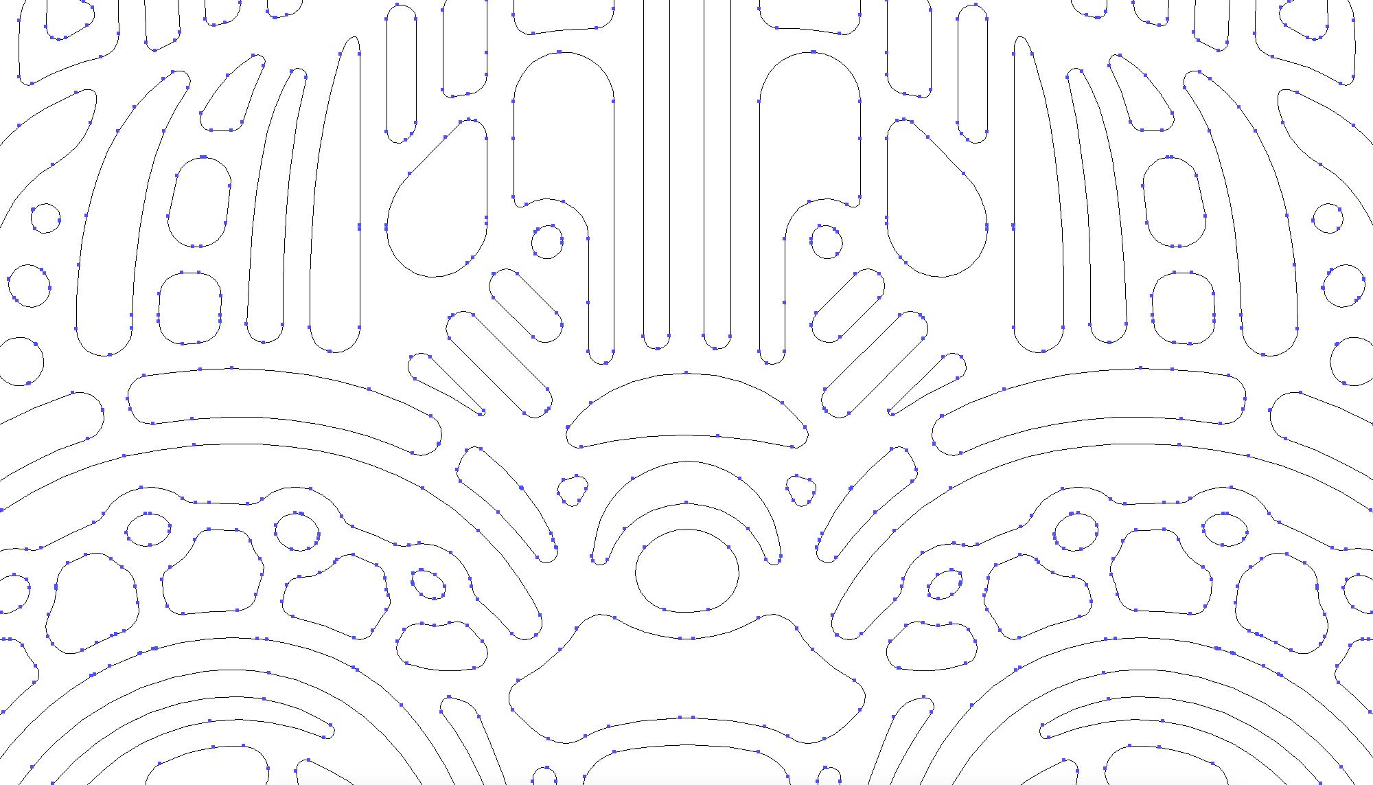 Kickstarter LED light up graphic mask design - Y,Robot vector illustration outline.