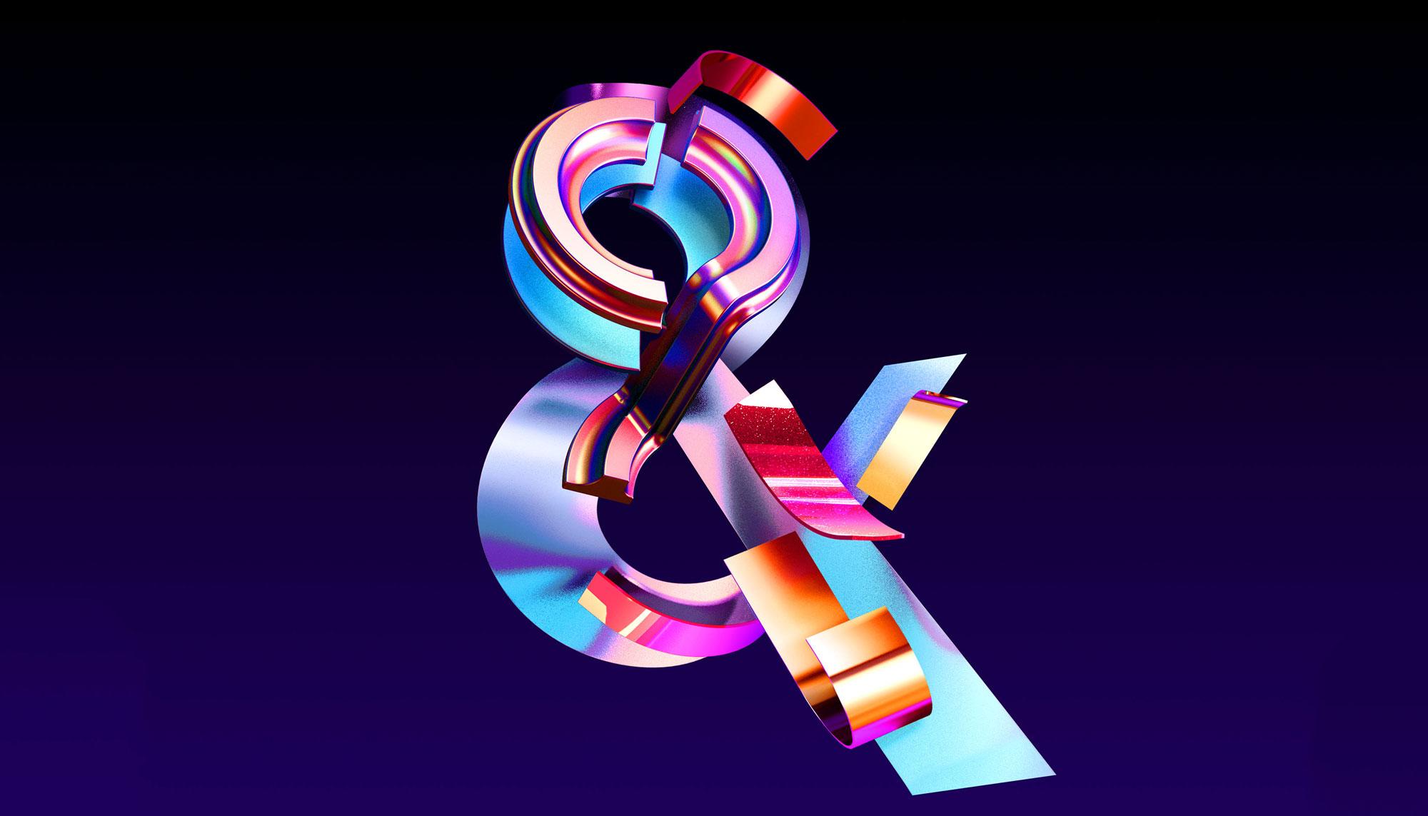 Adobe Ampersands - 3D ampersand lettering visual designs version 1.