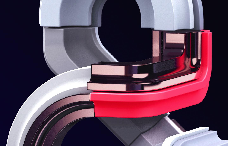 Adobe Ampersands - 3D ampersand lettering visual designs version 2 detail closeup.