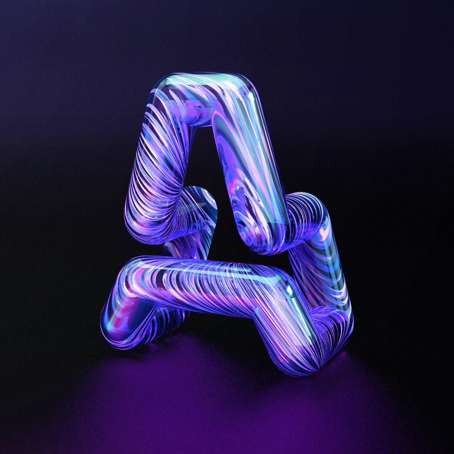 36 Days of Type 2018 - 3D letter A visual.