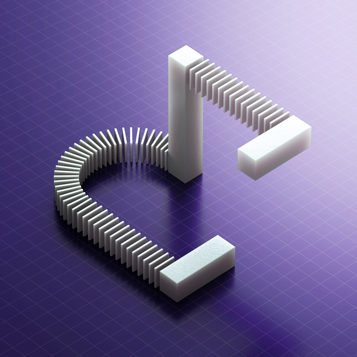 36 Days of Type 2018 - 3D letter E visual.