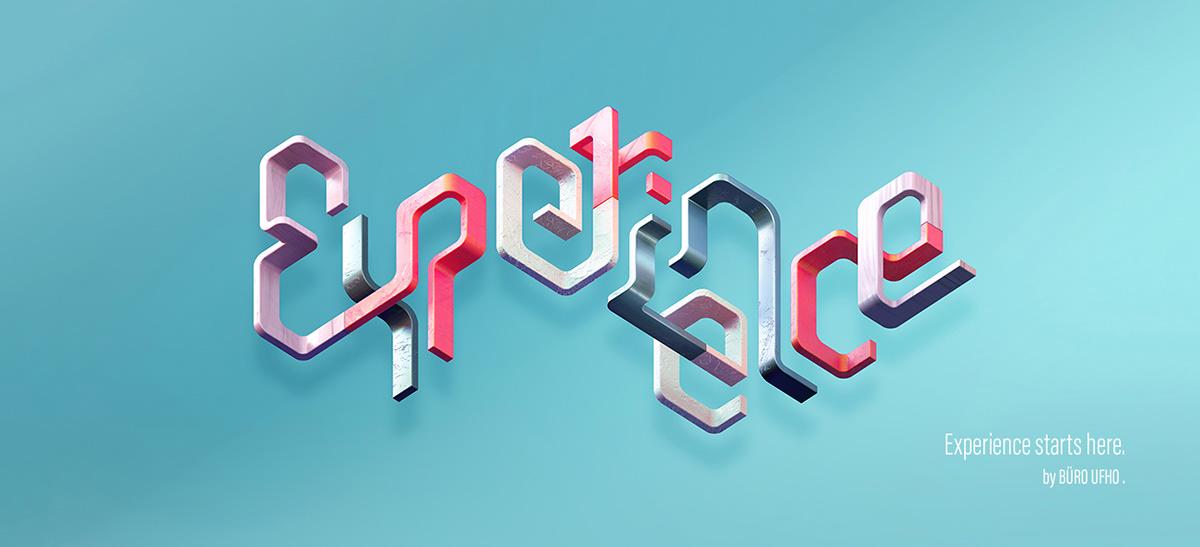 Adobe Experience - 3D typographic key visual version 1.
