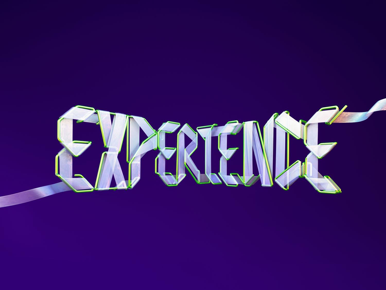 Adobe Experience - 3D typographic key visual version 2.