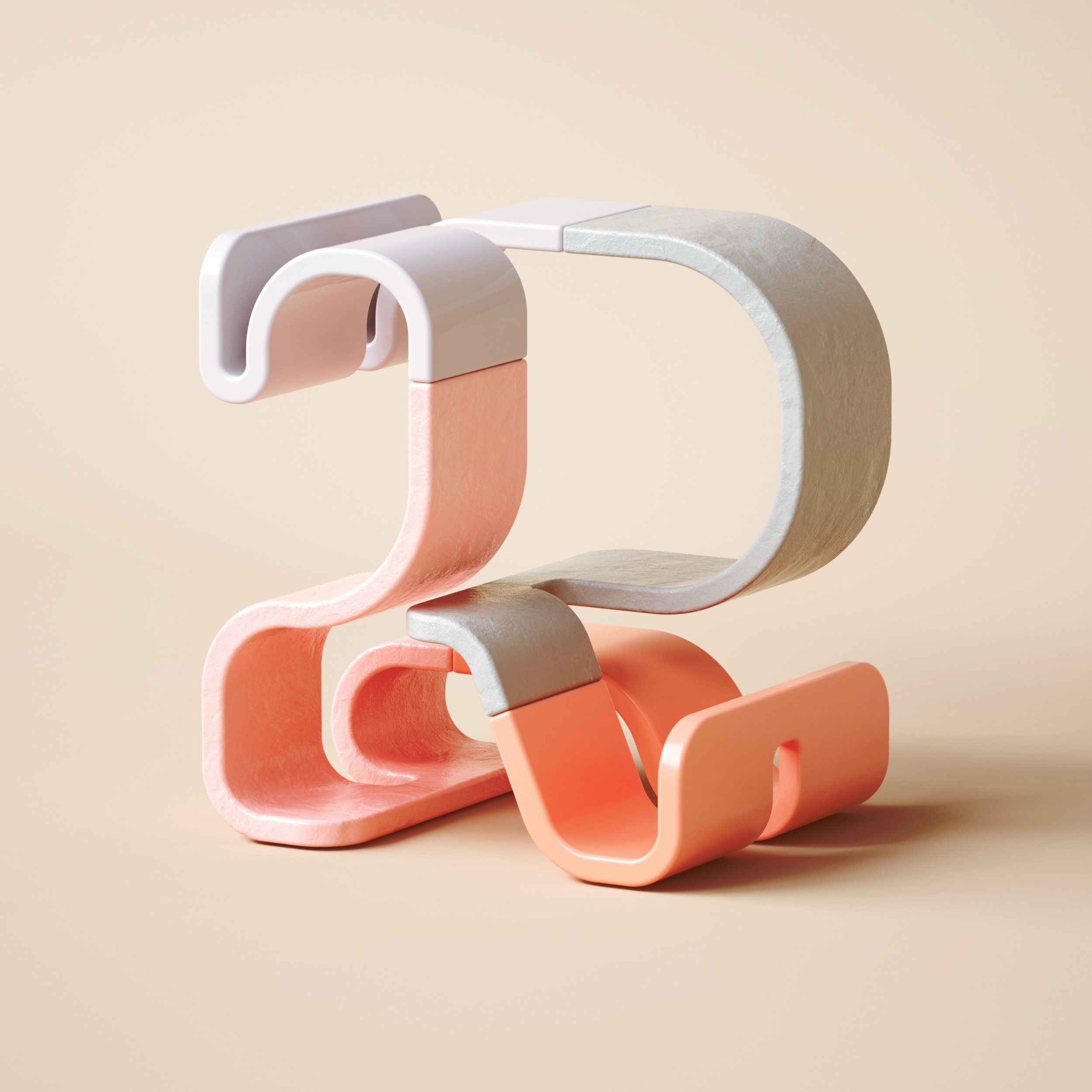 36 Days of Type 2019 - 3D Typeform number 2 visual.