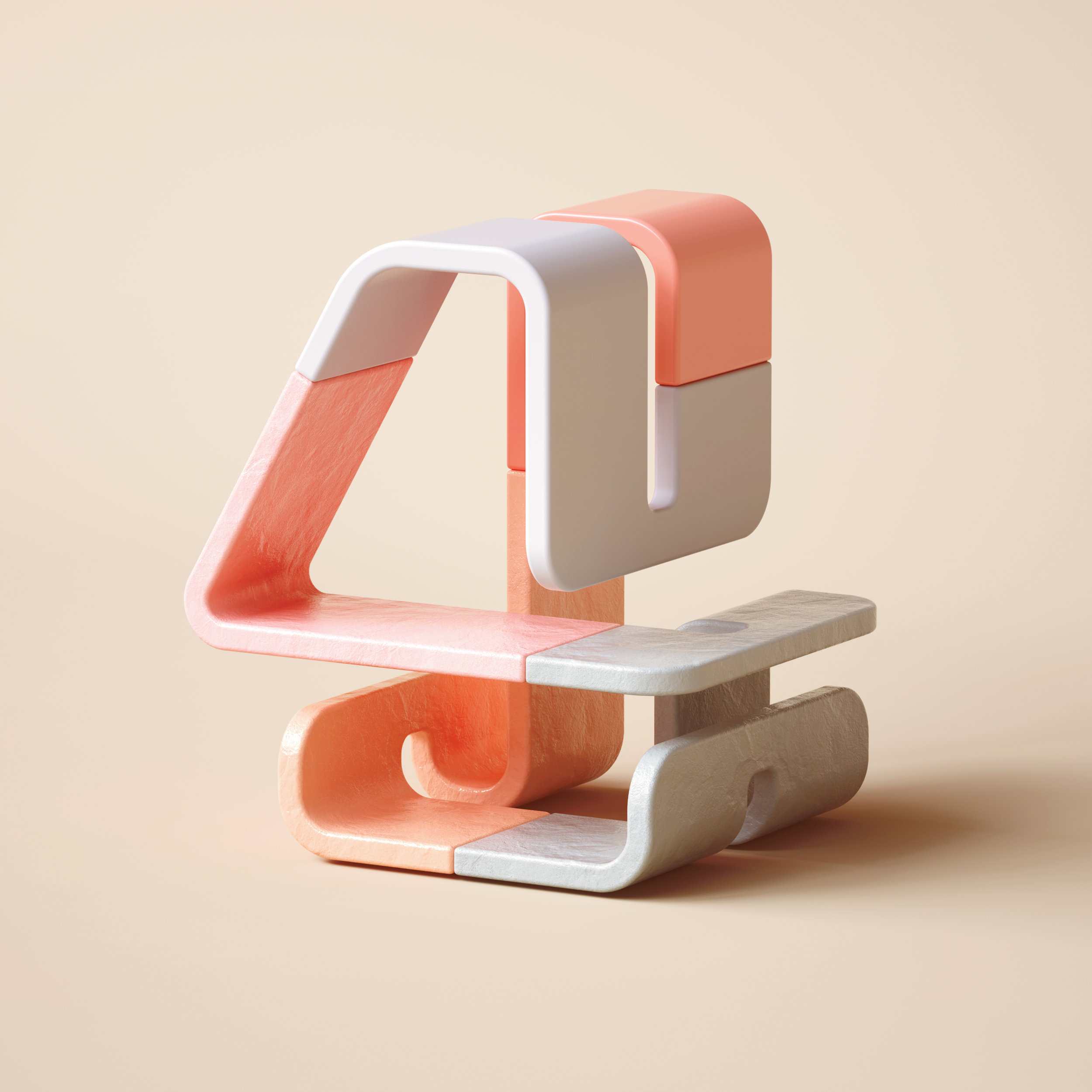 36 Days of Type 2019 - 3D Typeform number 4 visual.