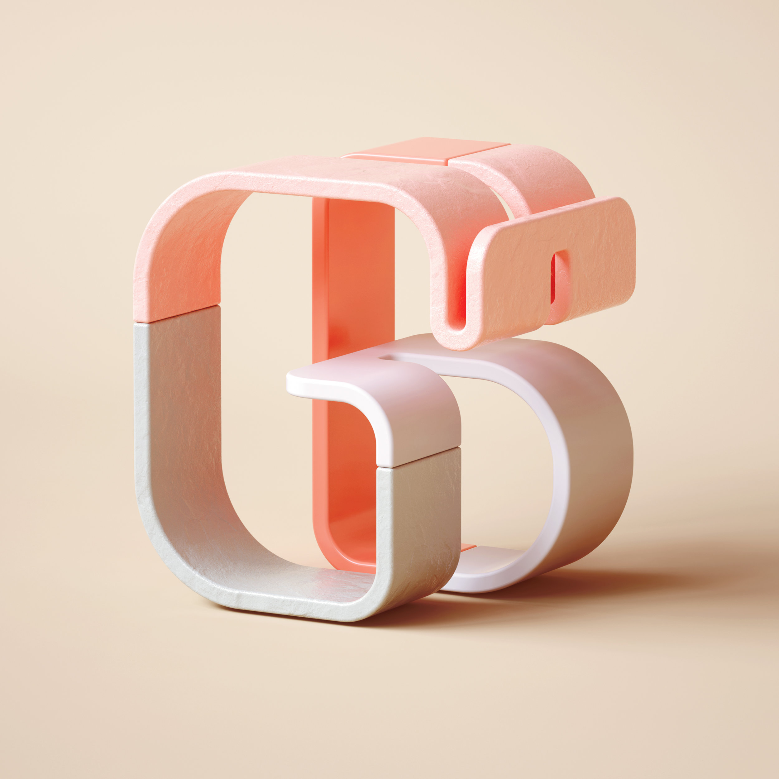 36 Days of Type 2019 - 3D Typeform number 6 visual.