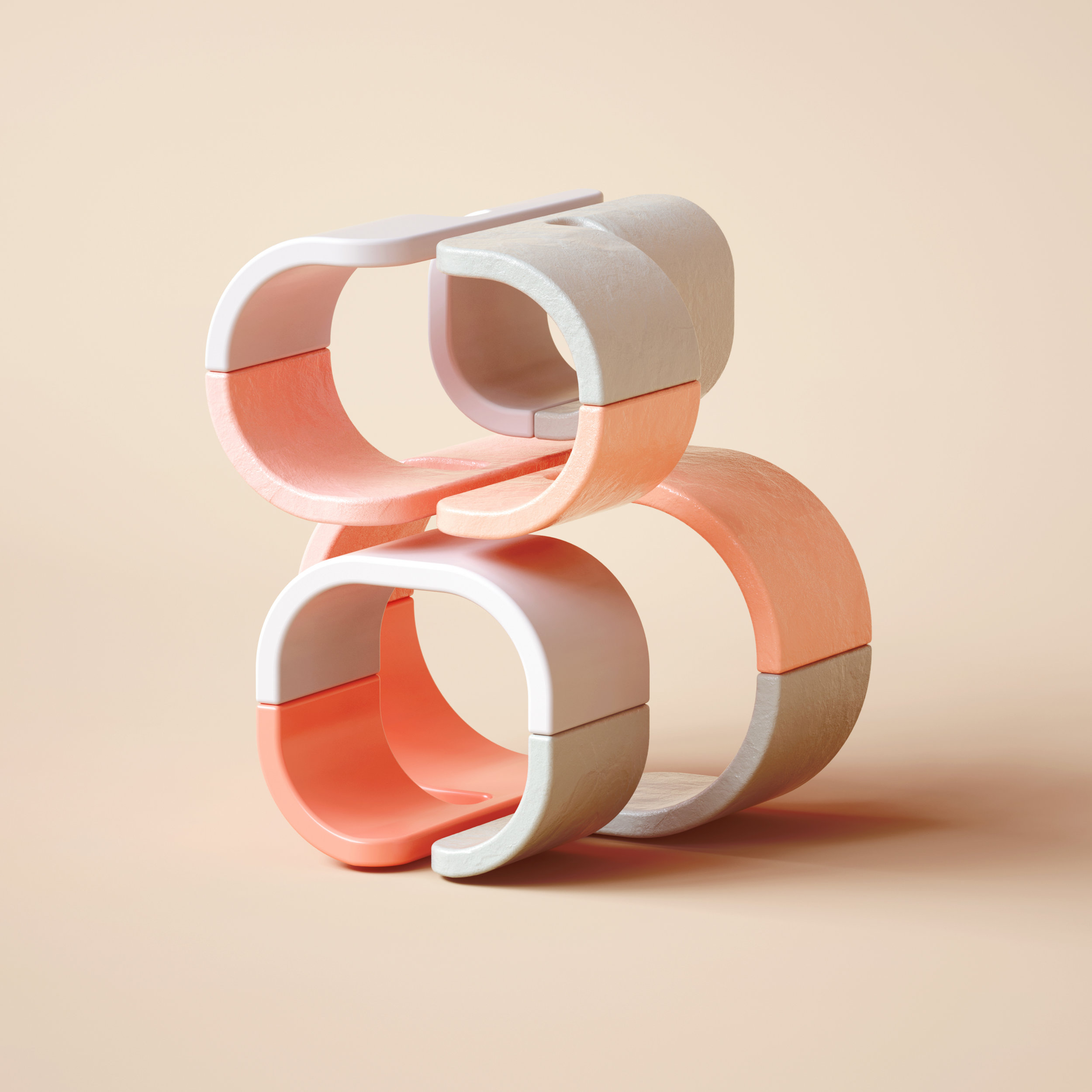 36 Days of Type 2019 - 3D Typeform number 8 visual.