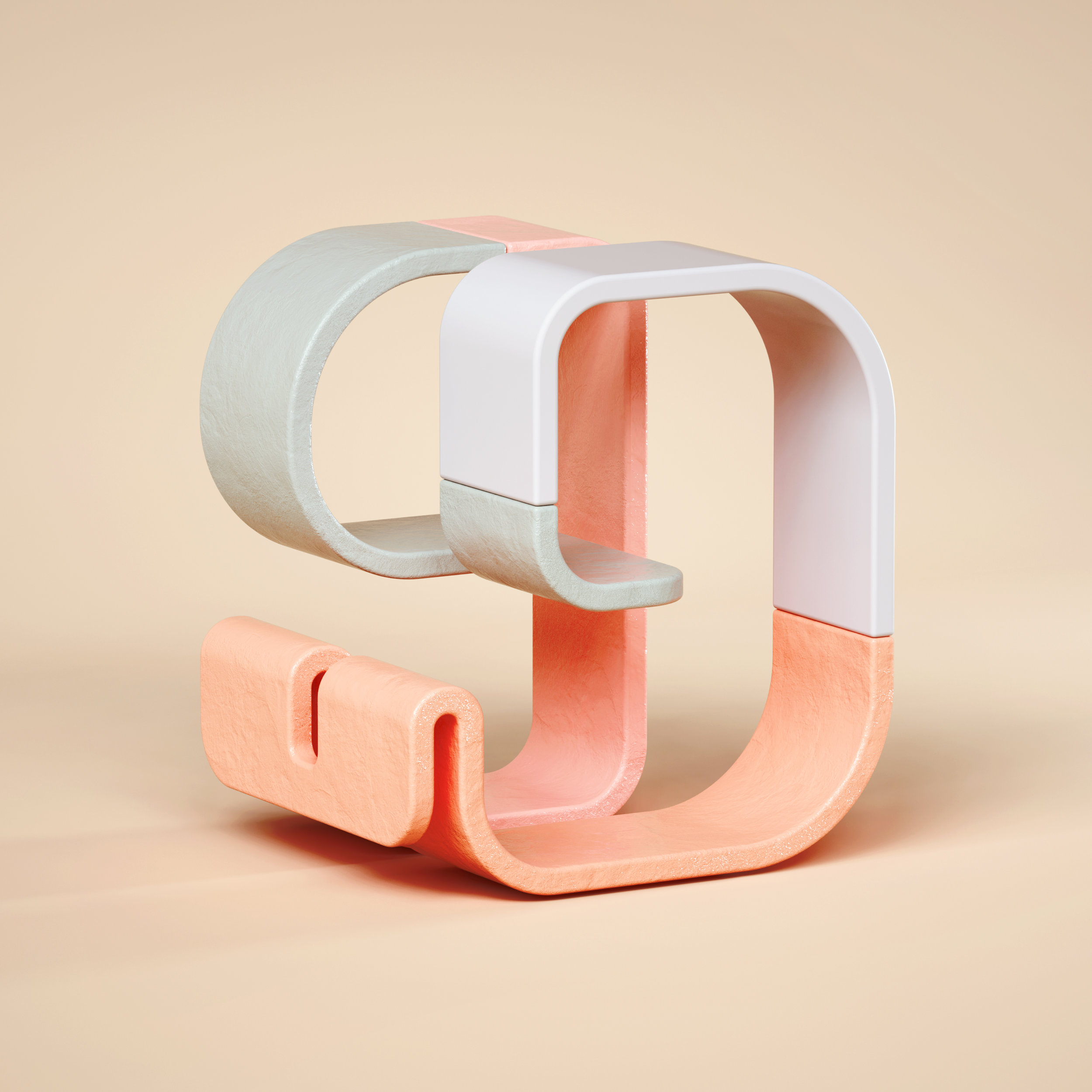 36 Days of Type 2019 - 3D Typeform number 9 visual.