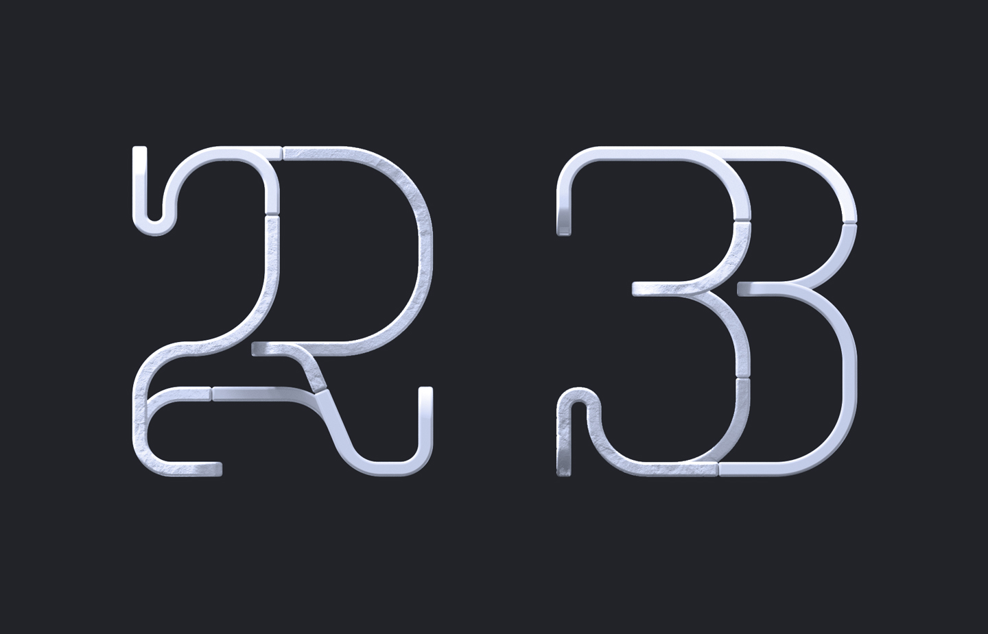 36 Days of Type 2019 - 2D Typeform number 23.