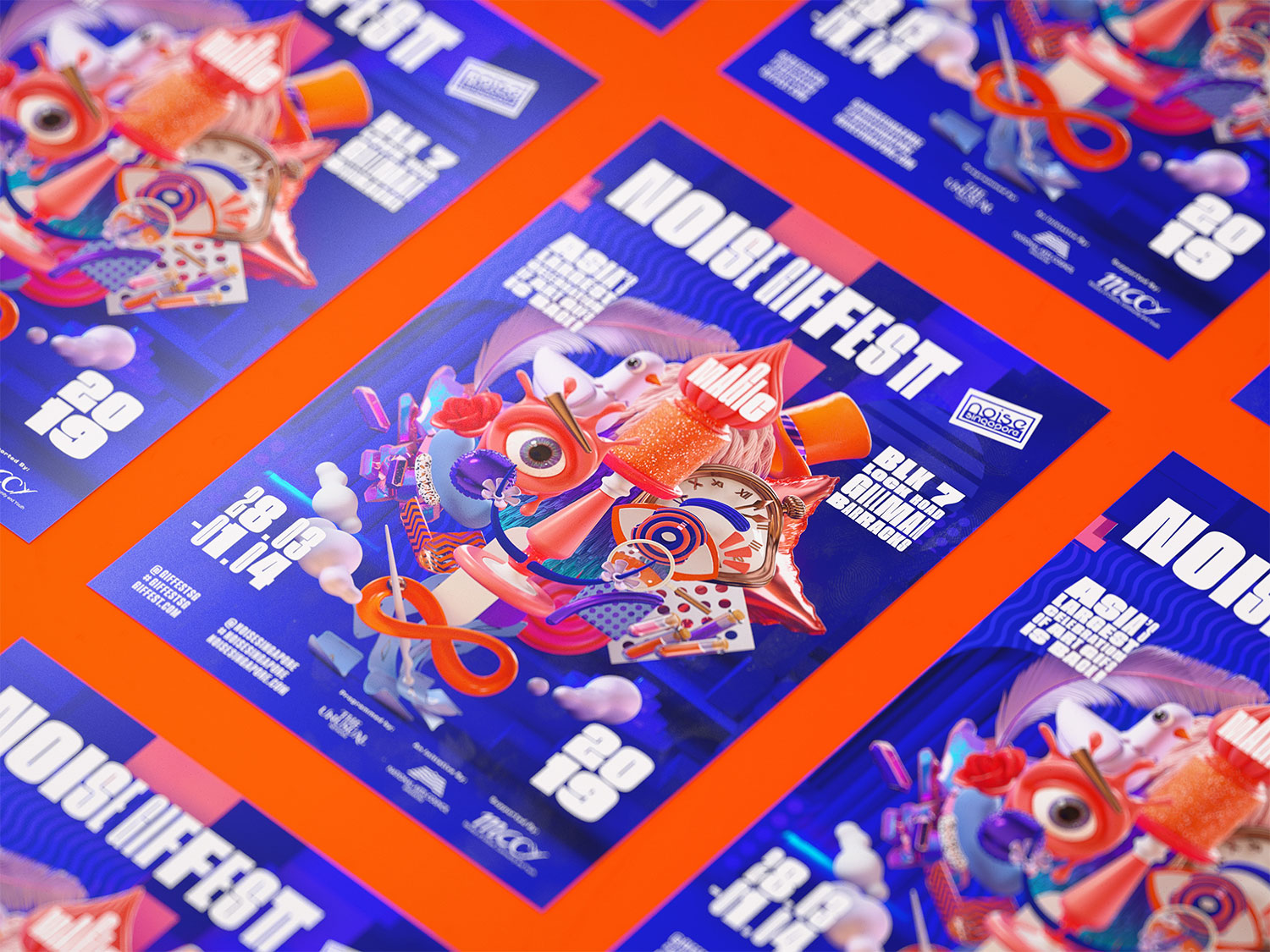 GIF Fest II 2019 festival branding identity - A5 Event Flyers.