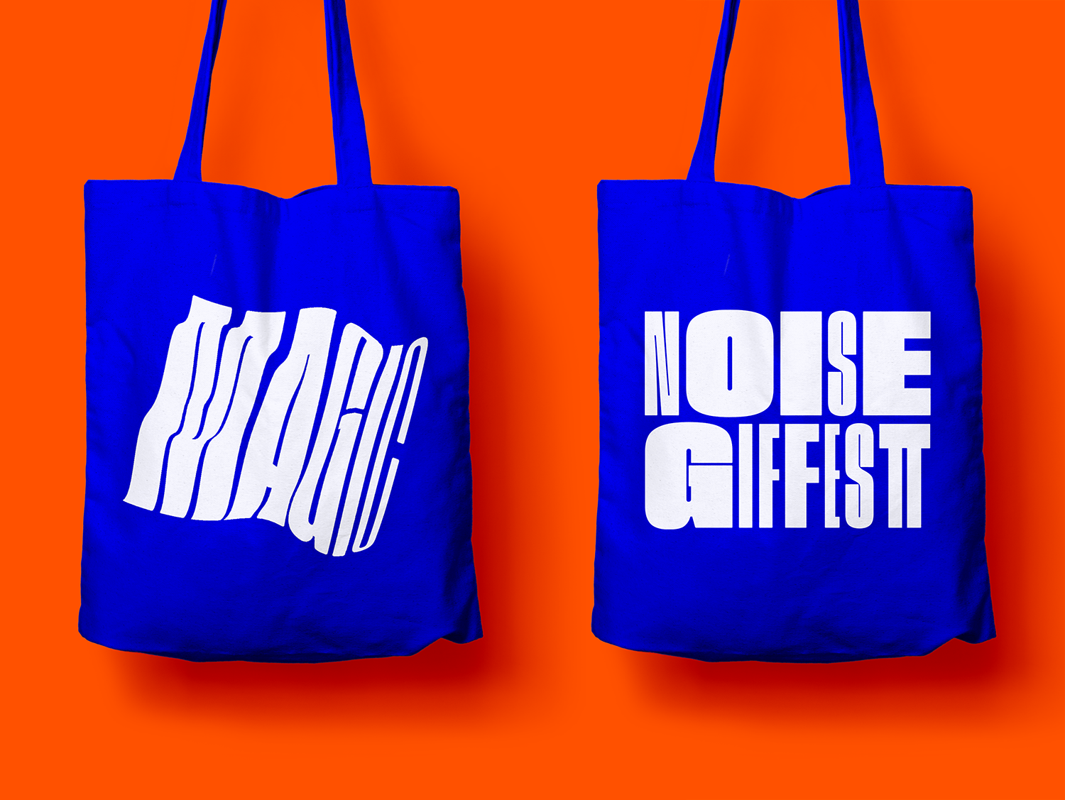 GIF Fest II 2019 branding identity - Event tote bag designs.