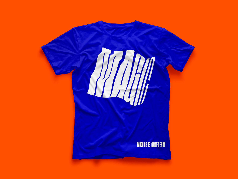 GIF Fest II 2019 branding identity - Typographic T-Shirt design.