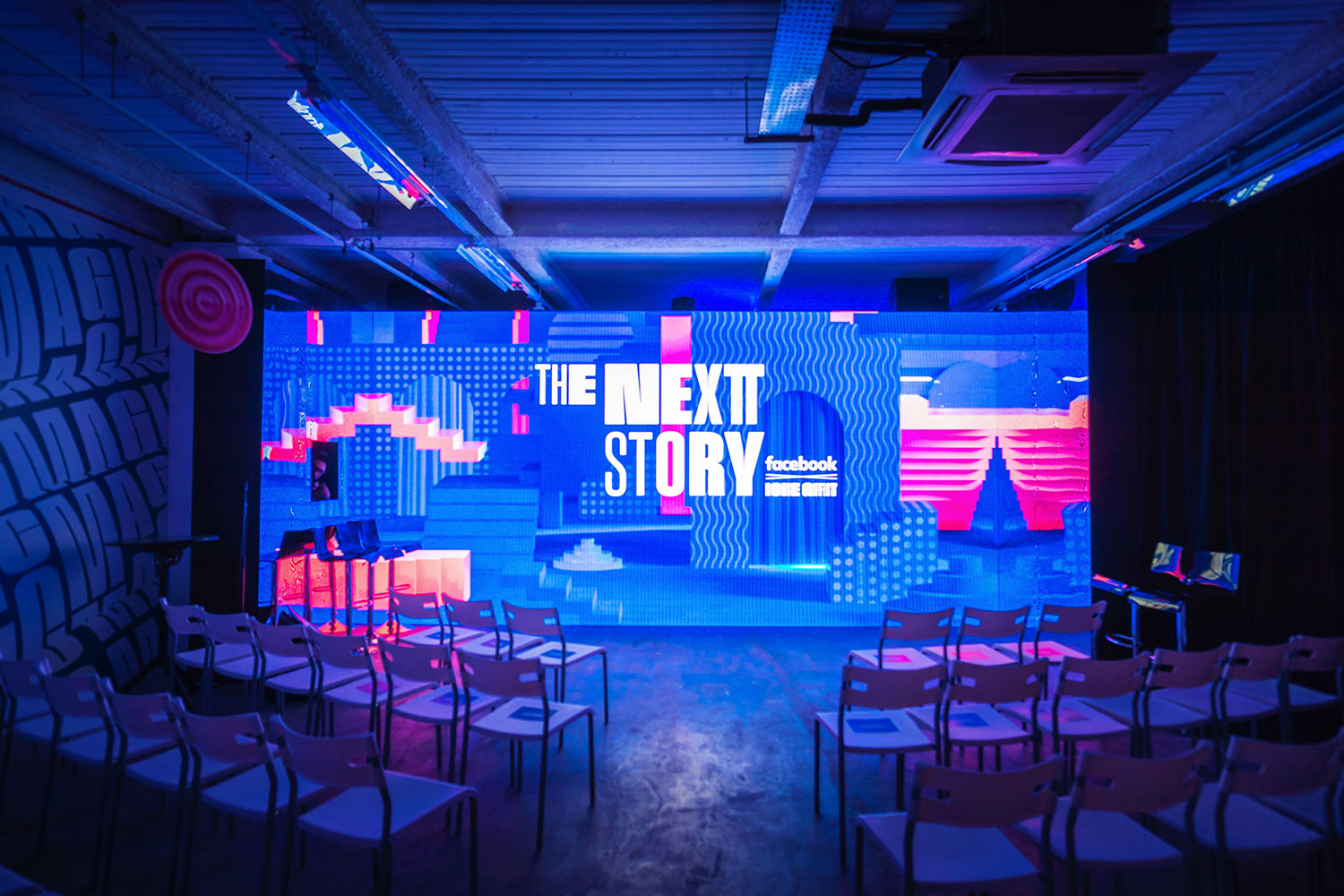 GIF Fest II 2019 festival branding identity - Industry Night with introduction by Facebook, Singapore. Photography by BÜRO UFHO.