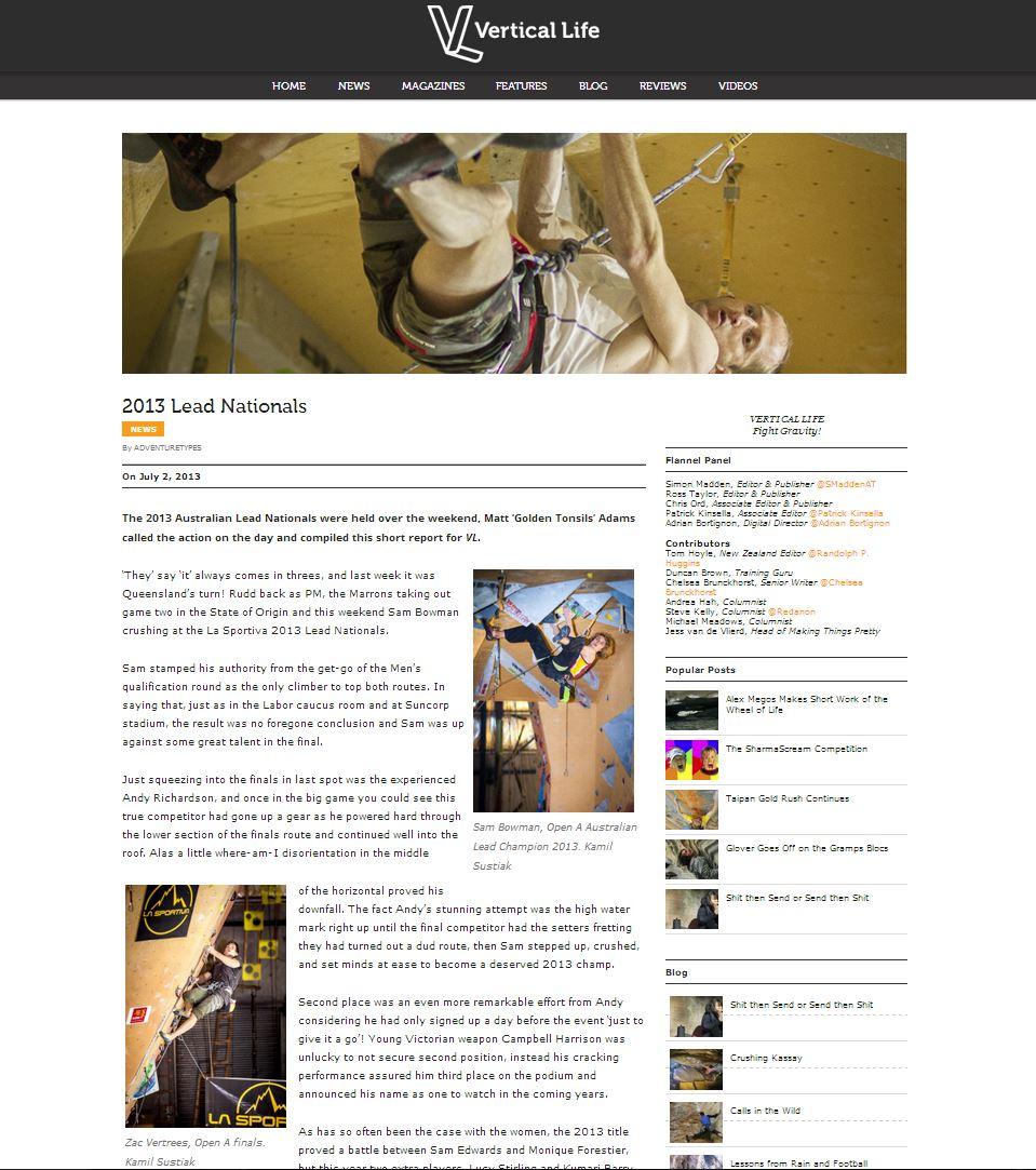 Vertical Life Blog