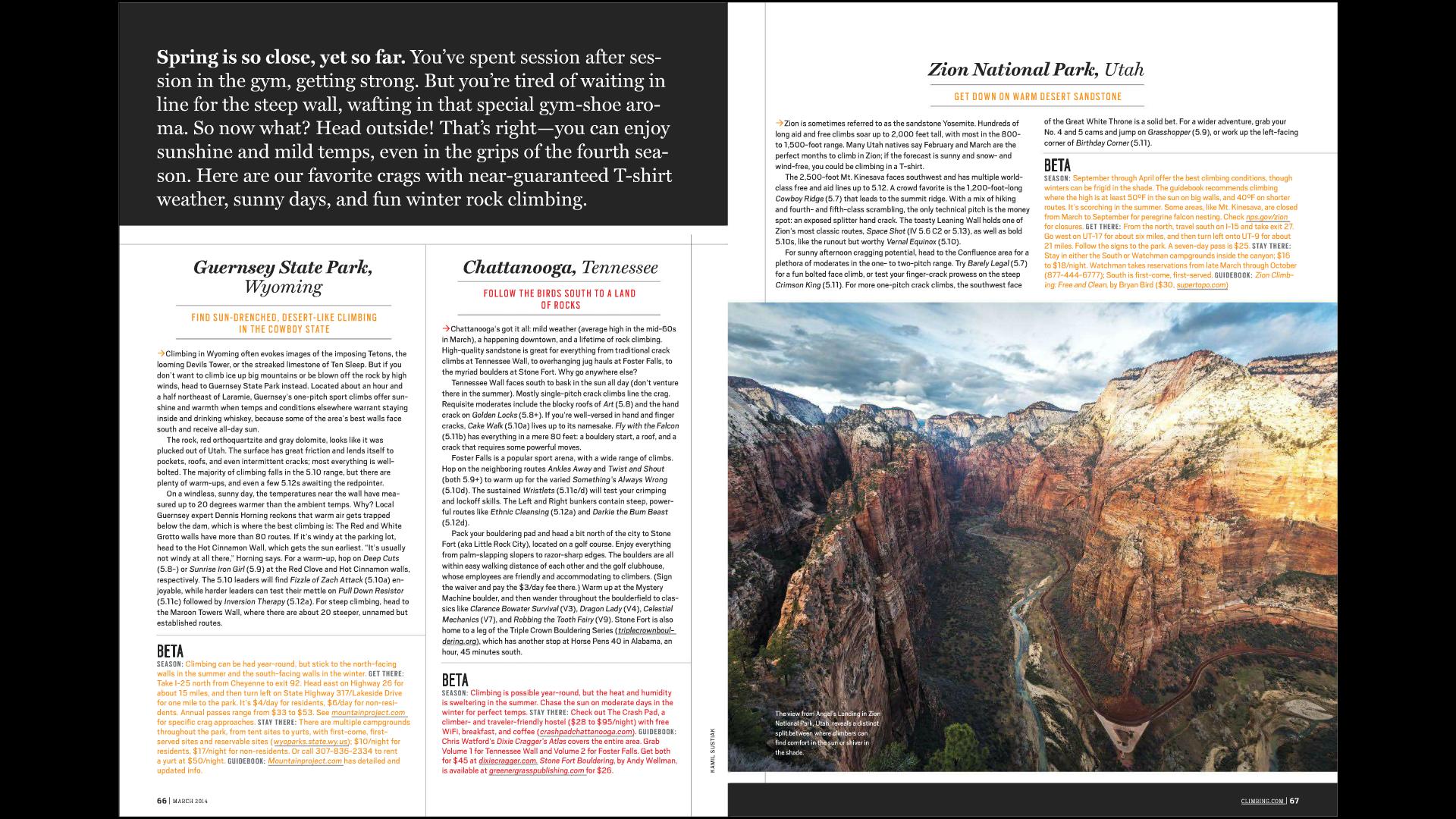 Climbing Magazine - online - March 2014