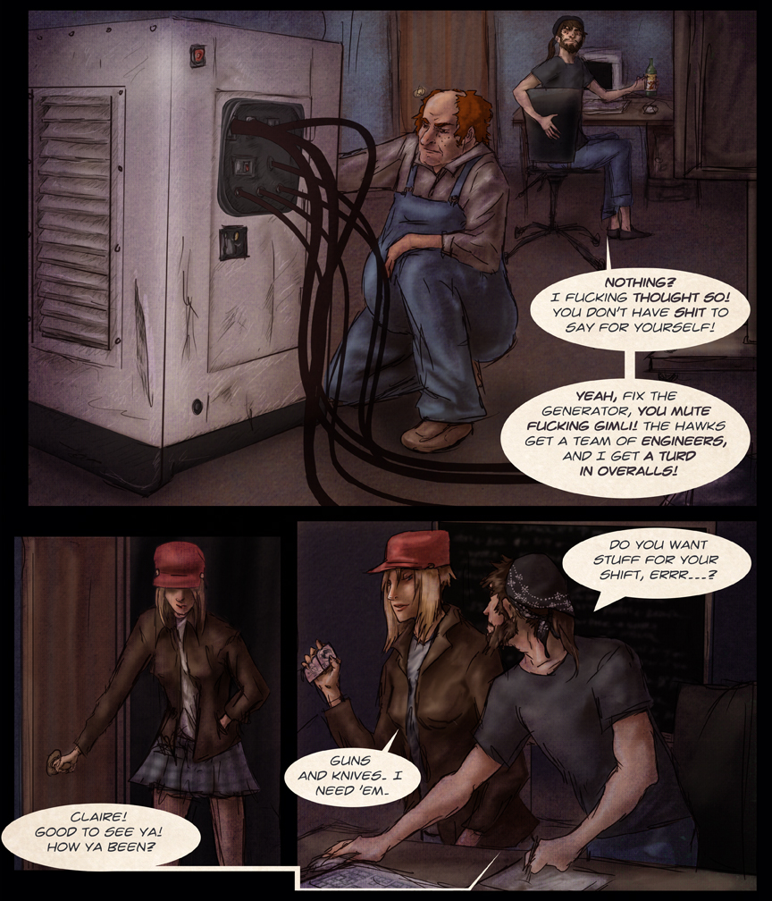After-comic Webcomic comics webserries science fiction post apocalypse Chapter 1 page 7