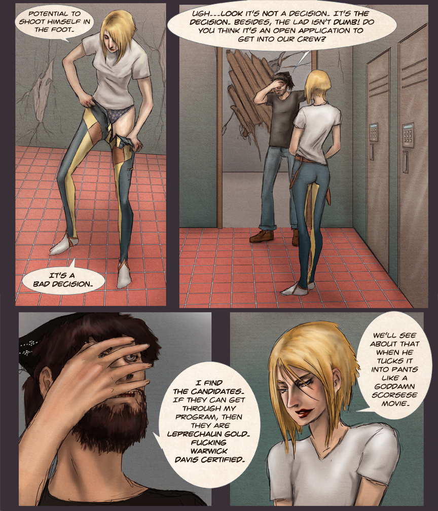 After-comic Webcomic comics webserries science fiction post apocalypse Chapter 1 page 12