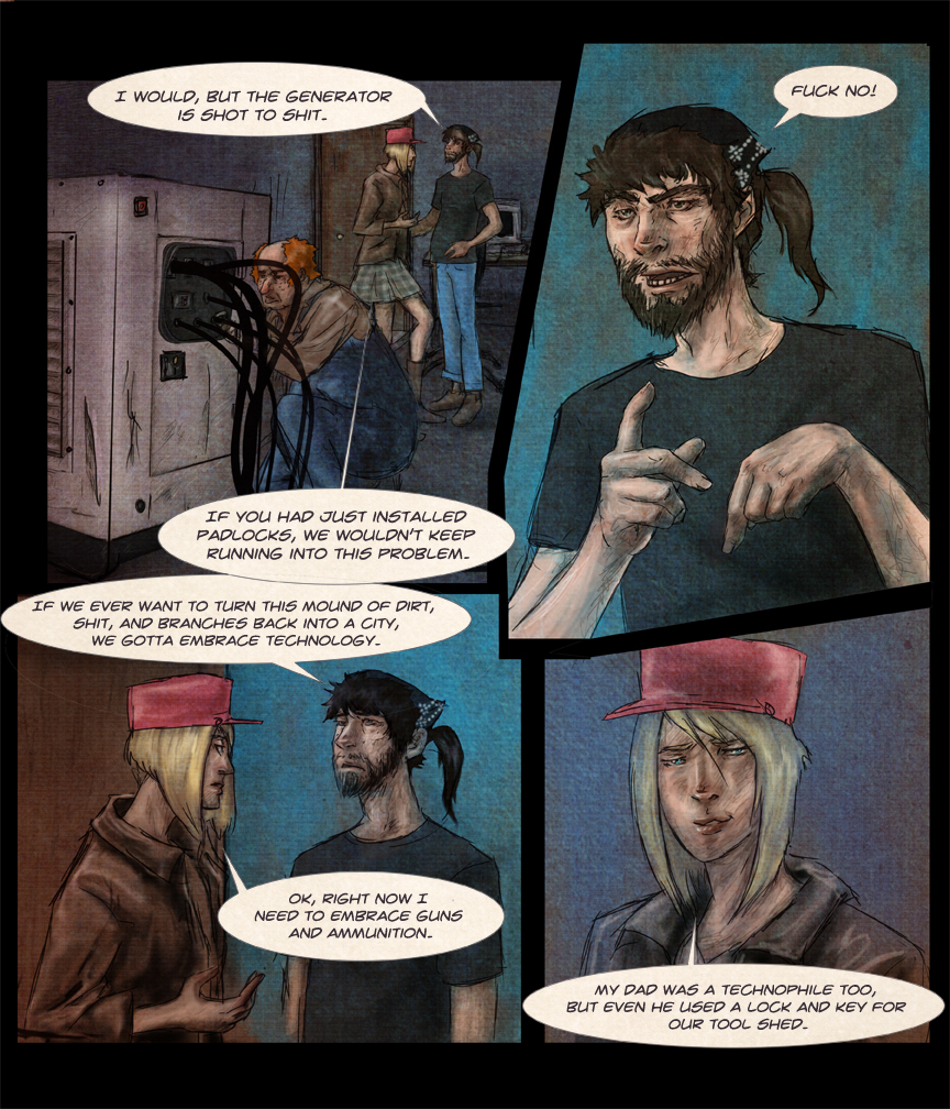 After-comic Webcomic comics webserries science fiction post apocalypse Chapter 1 page 9