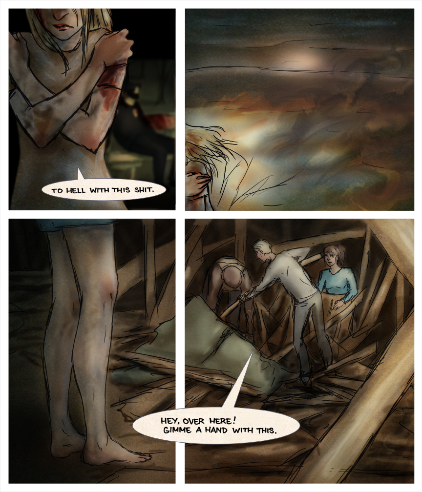 After-comic Webcomic comics webseries science fiction post apocalypse Chapter 2 page 19