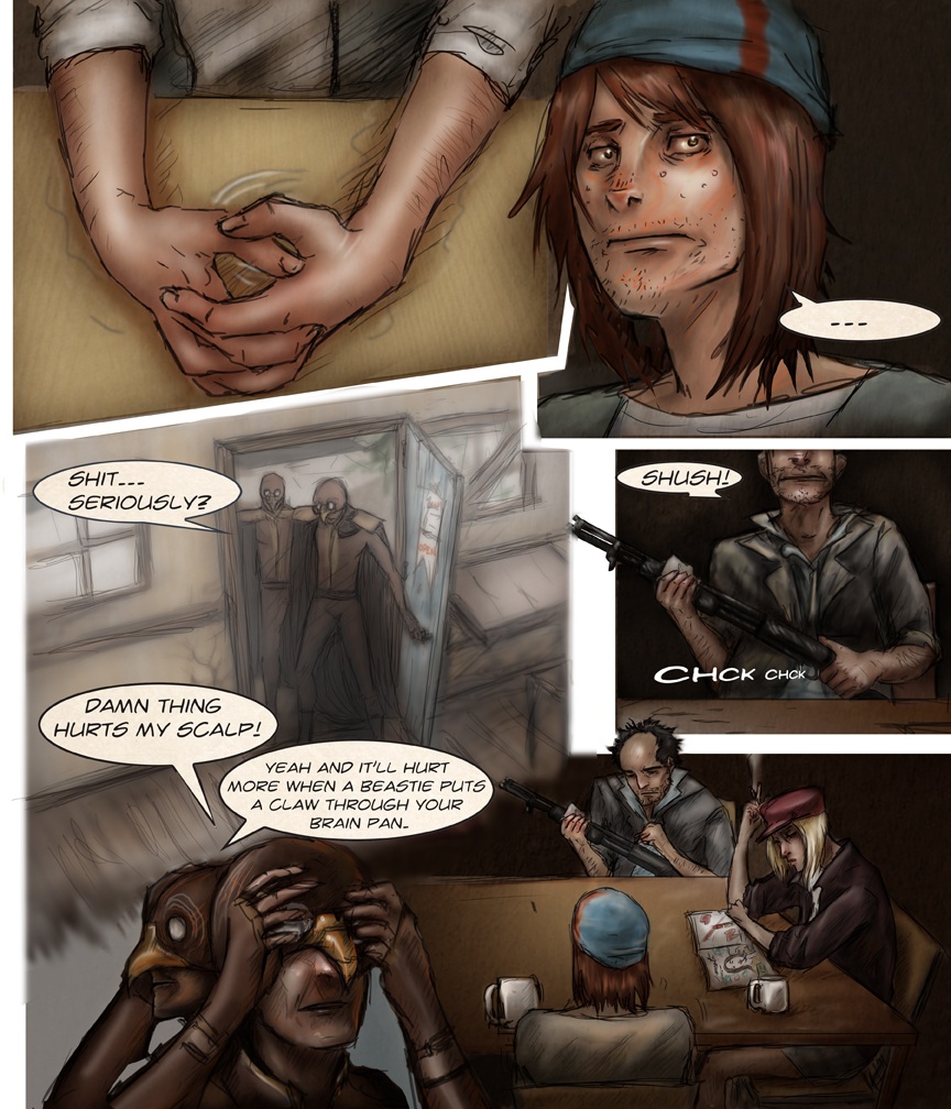 Chapter: pg 1 After Webcomic science fiction post apocalypse Chapter 1 page 1