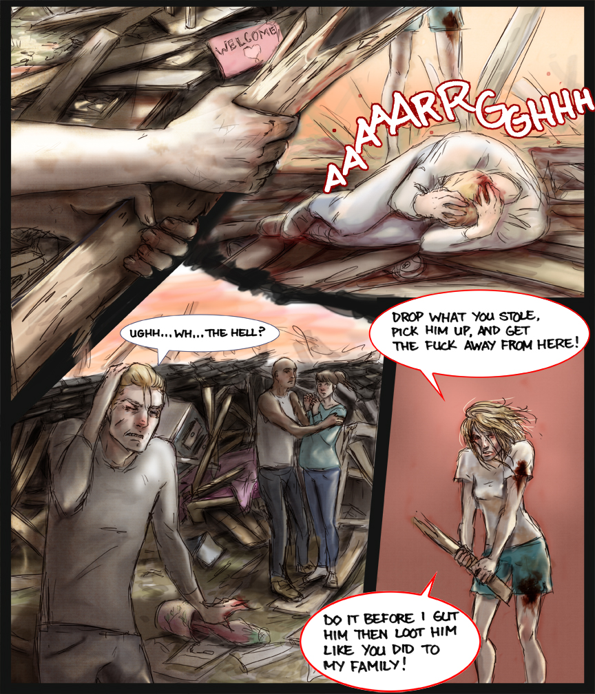 After-comic Webcomic comics webseries science fiction post apocalypse Chapter 2 page 25