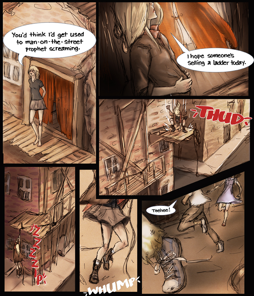 After-comic Webcomic comics webseries science fiction post apocalypse Chapter 3 Page 3