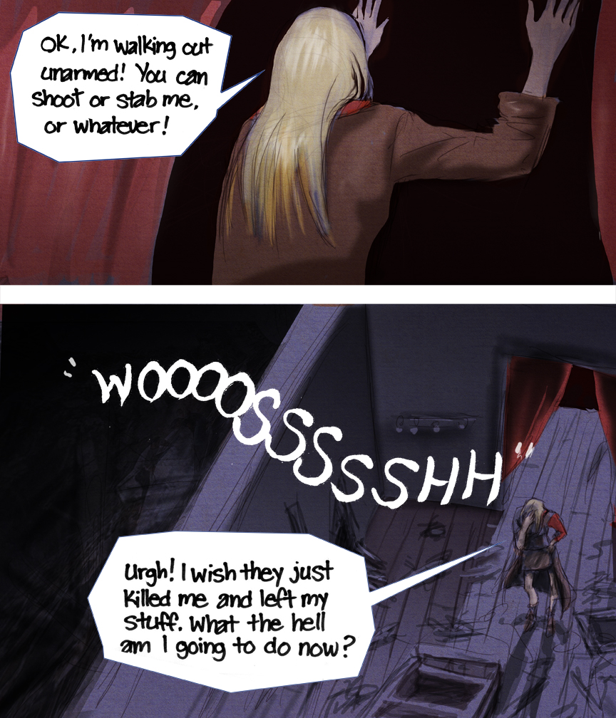 After-comic Webcomic comics webseries science fiction post apocalypse Chapter 3 Page 28