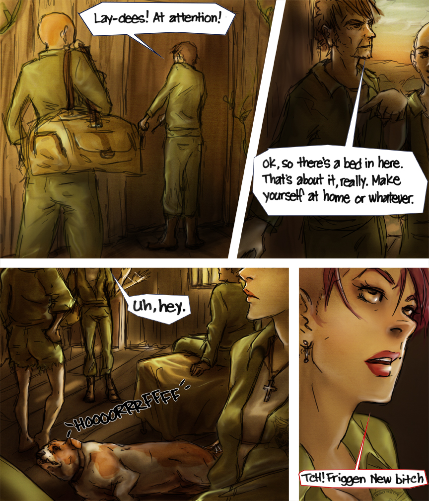 After-comic Webcomic comics webseries science fiction post apocalypse Chapter 3 Page 33