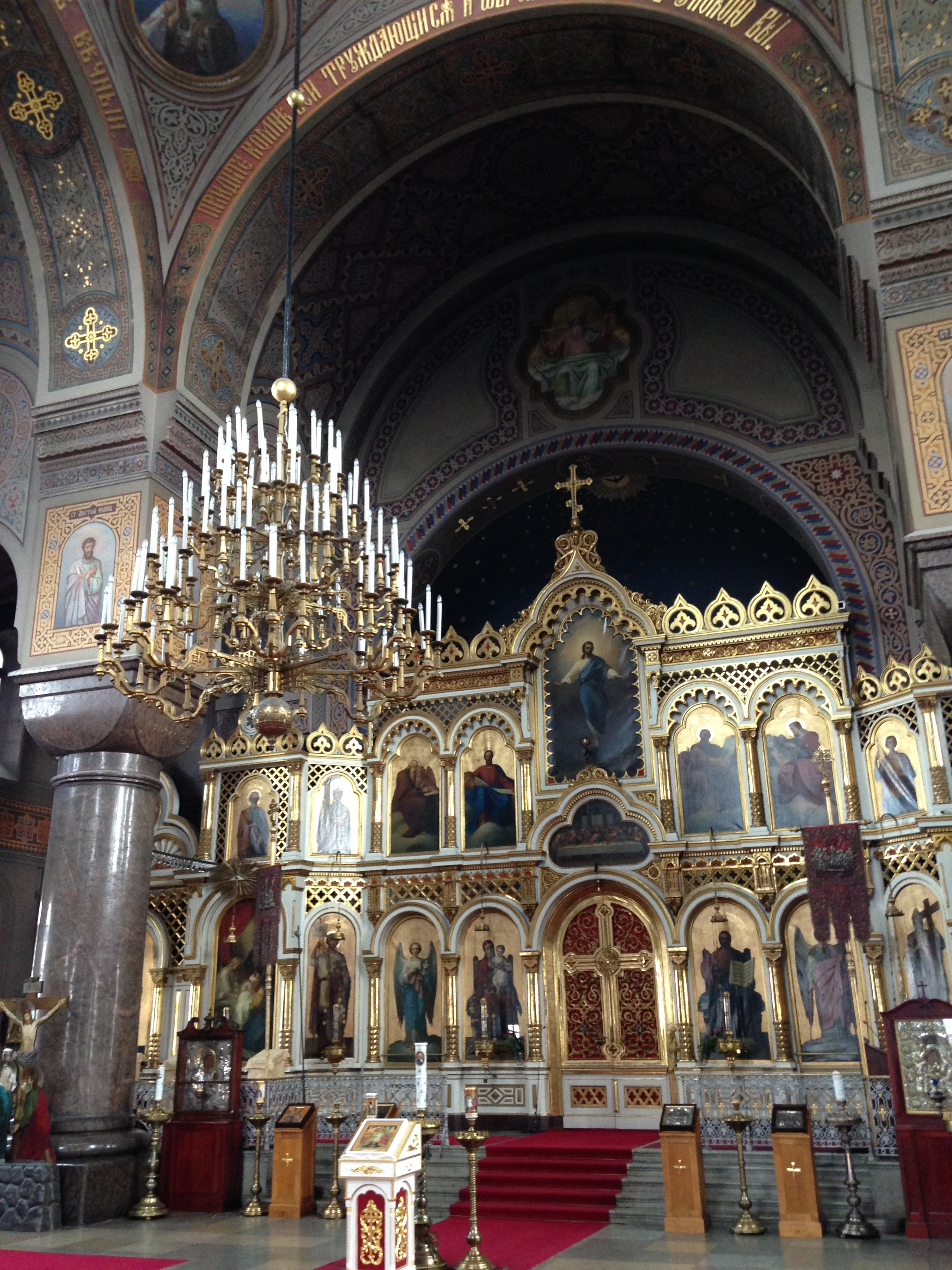 The inside of the Upenski Cathedral.