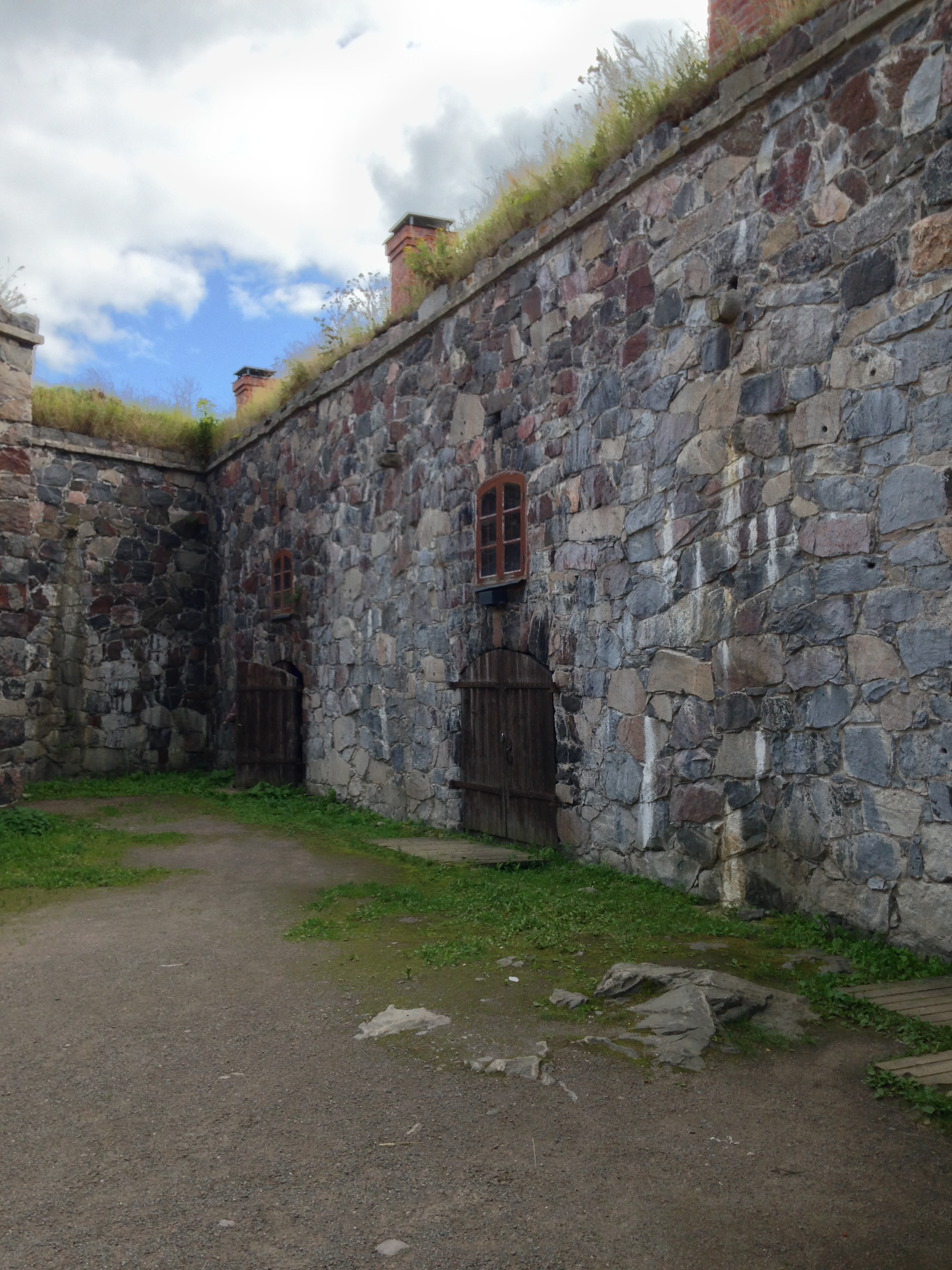 The interior of the fortress at Suomenlinna