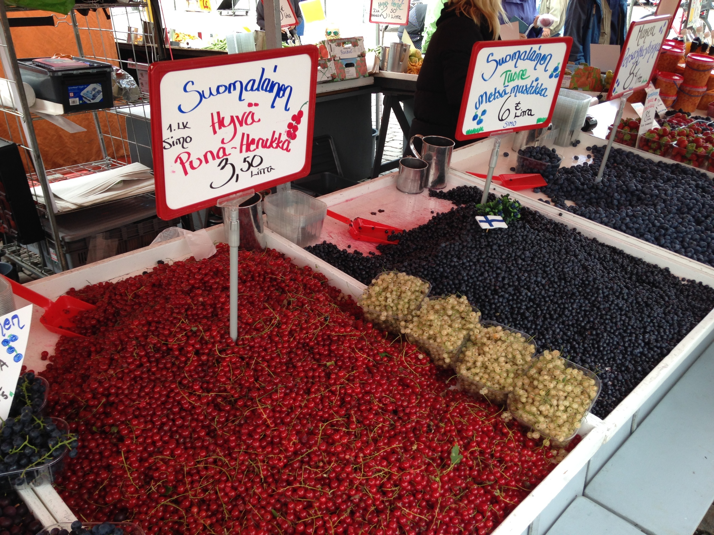 Berries at the outdoor public market