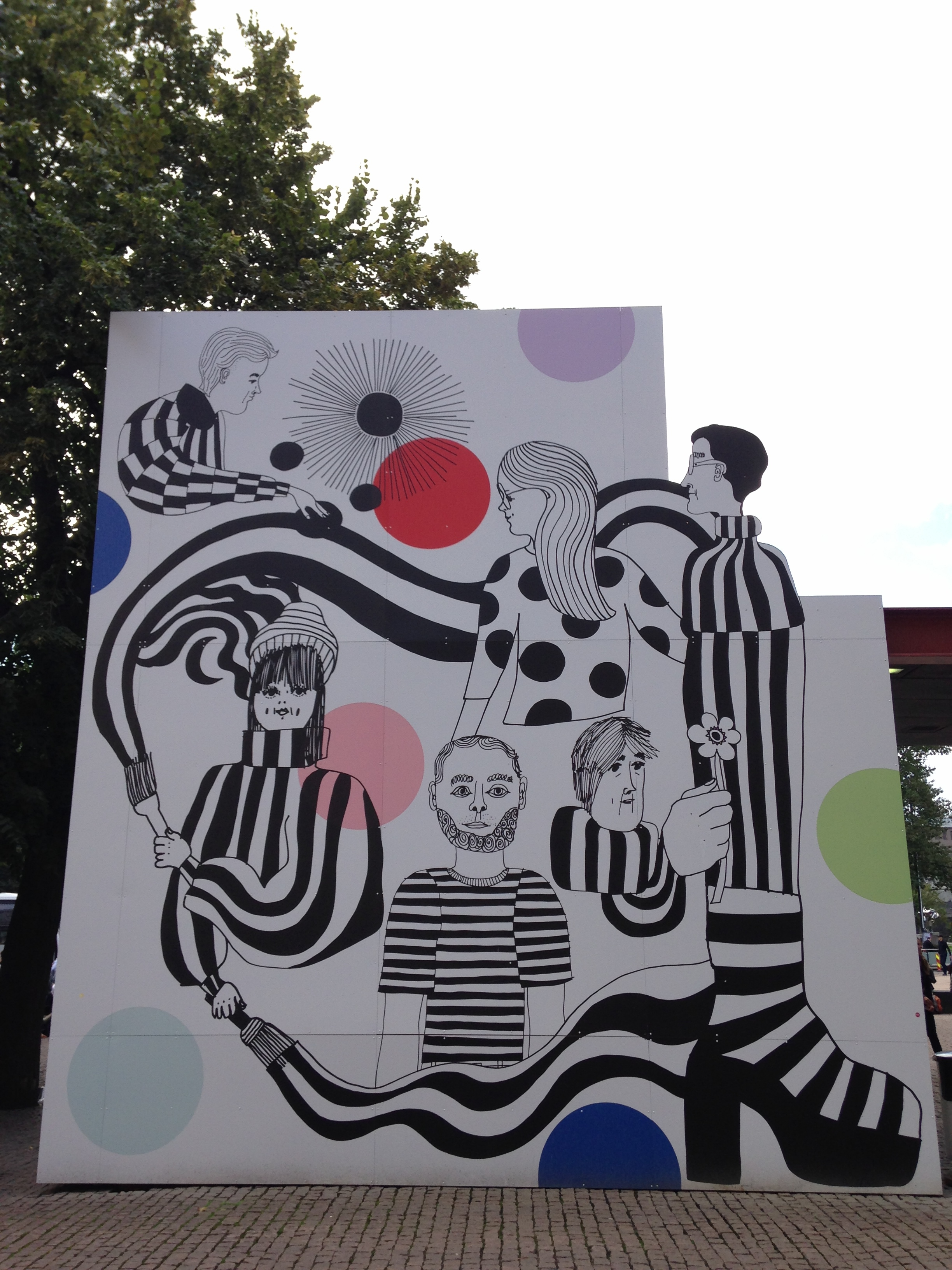 A Marimekko design outside the contemporary art museum