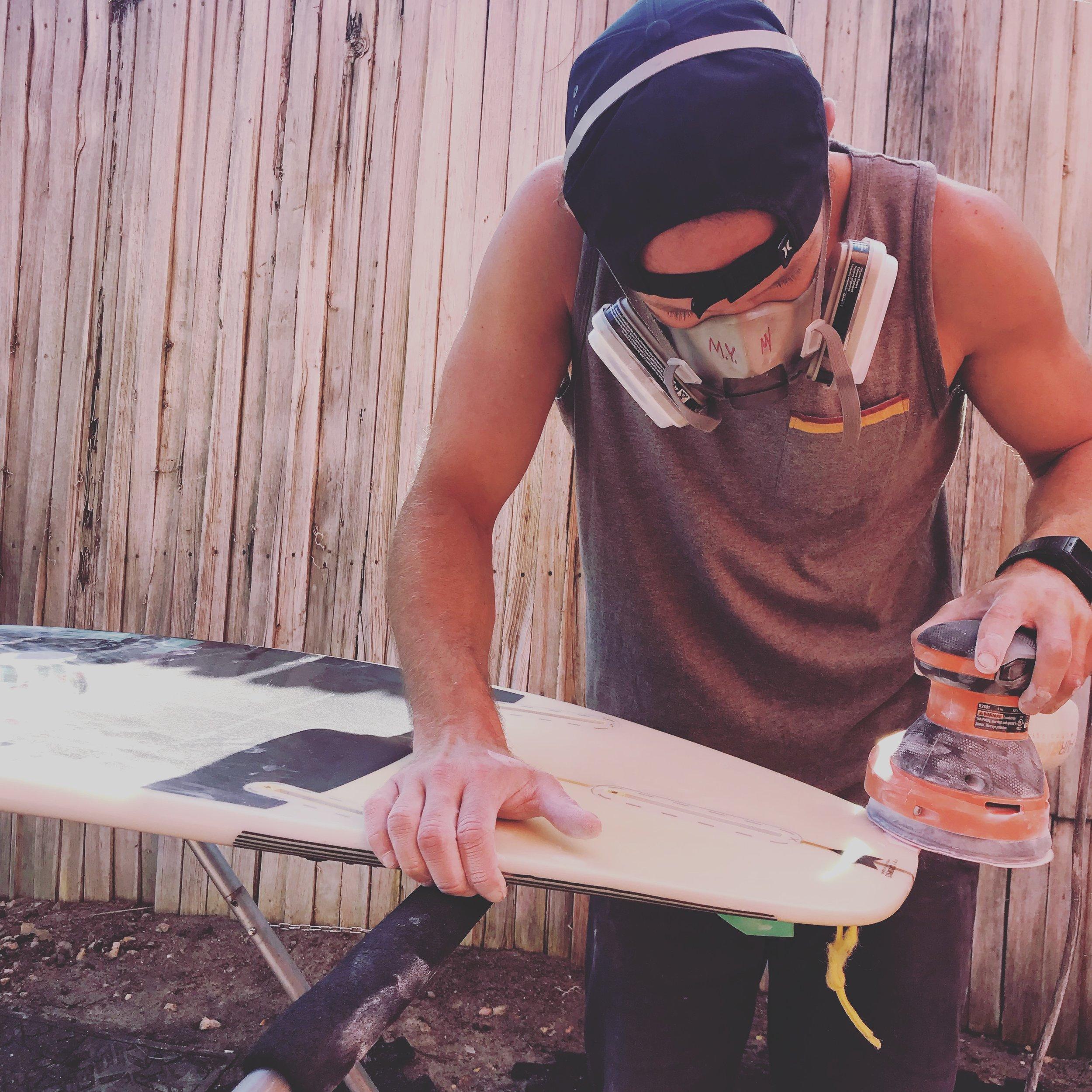 Ding repair Progression Surf Shop Encinitas