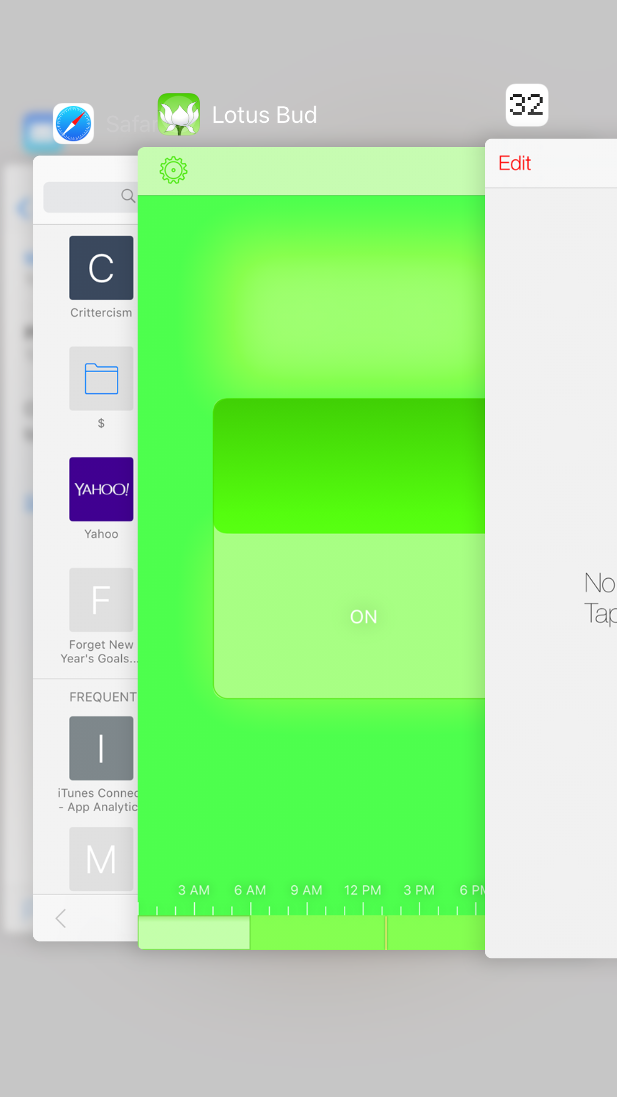 Keep Lotus Bud visible in this app switcher and you should keep getting notifications.