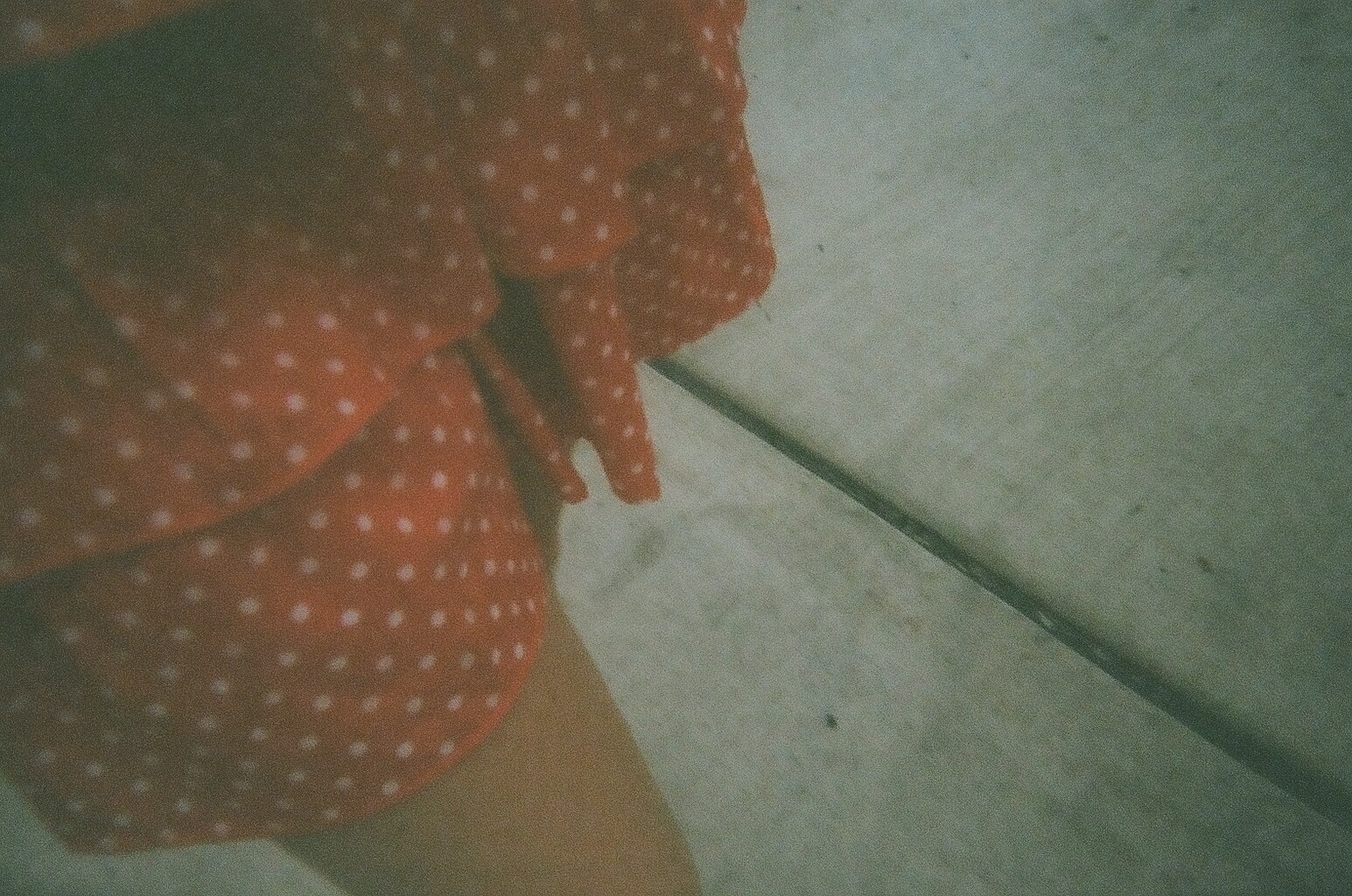 The skirt of my favorite dress, while I was walking to Oslo Sushi (RIP) in Detroit.